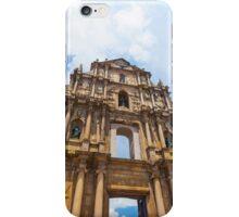 Ruins St Paul church in Macau, China iPhone Case/Skin