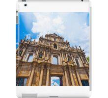 Ruins St Paul church in Macau, China iPad Case/Skin
