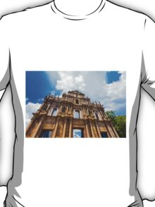Ruins St Paul church in Macau, China T-Shirt