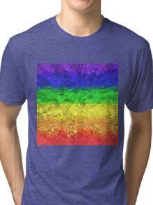 Rippled Rainbow #1 Tri-blend T-Shirt