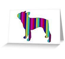 Boston Terrier Range  Greeting Card