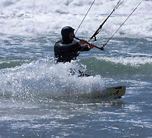 Kitesurfing in the Ocean - Coming Back to Shore by Buckwhite
