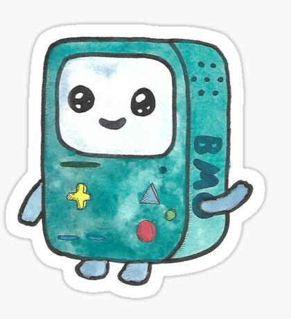 Watercolor Bmo Sticker
