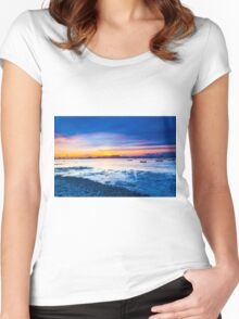 Sunset along the coast Women's Fitted Scoop T-Shirt