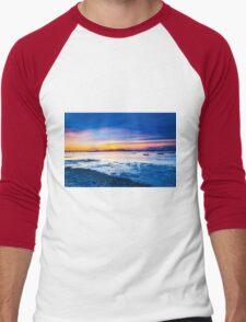 Sunset along the coast Men's Baseball ¾ T-Shirt
