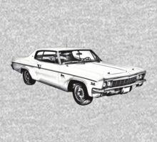 1966 Chevrolet Caprice 427 Car Illustration Kids Clothes