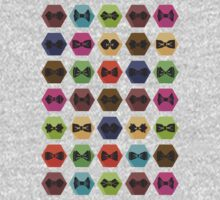 Bow tie pattern. Flat icons with hipsters style Kids Clothes