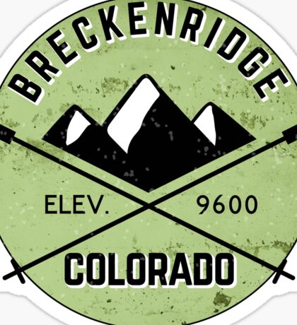 BRECKENRIDGE COLORADO CROSSED SKIS Mountain Skiing Ski Snowboard Snowboarding Sticker