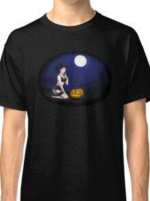 Vintage pin up girl - Halloween Classic T-Shirt