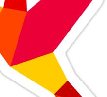 Red bird Sticker