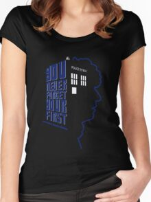 You Never Forget Your First - Doctor Who 4 Tom Baker Women's Fitted Scoop T-Shirt
