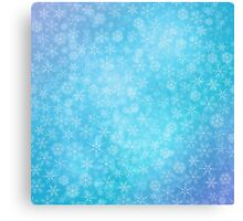 Christmas blue background with snowflakes Canvas Print