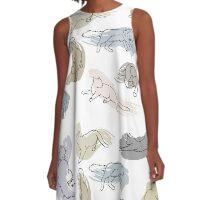 Swirl Kitten A-Line Dress