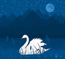 White swan by Aleksander1