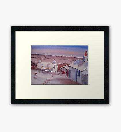 Creagneish in the Snow, Isle of Man Framed Print