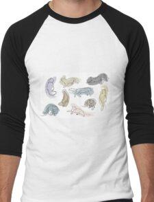 Swirl Kitten Men's Baseball ¾ T-Shirt