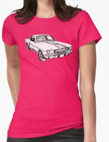 1965 GT350 Mustang Muscle Car Illustration Womens Fitted T-Shirt