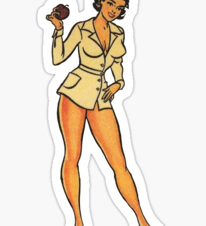 Vintage Pin-up Nurse Sticker