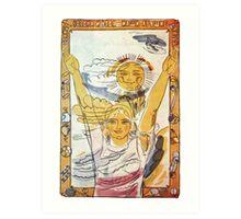 """Sun, air and water -  our best friends!"" Soviet poster  Art Print"