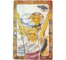 """""""Sun, air and water -  our best friends!"""" Soviet poster  Photographic Print"""