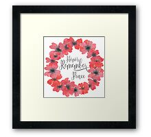 Remembrance Day - Honor, Remember, Peace Framed Print
