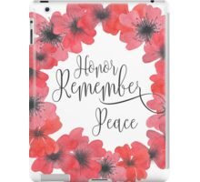 Remembrance Day - Honor, Remember, Peace iPad Case/Skin