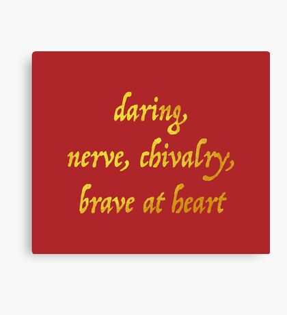 Brave at Heart Canvas Print
