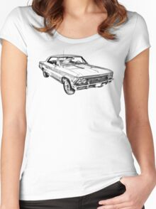 1966 Chevy Chevelle SS 396 Illustration Women's Fitted Scoop T-Shirt