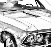1966 Chevy Chevelle SS 396 Illustration Sticker