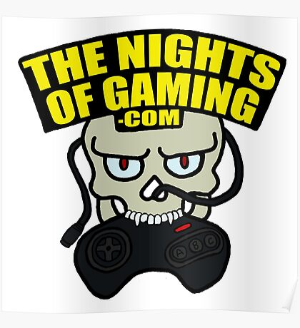 The Nights of Gaming skully Poster
