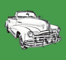 1948 Pontiac Silver Streak Convertible Illustration Baby Tee
