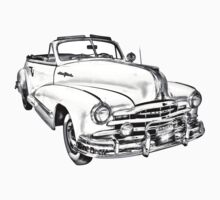 1948 Pontiac Silver Streak Convertible Illustration Kids Tee