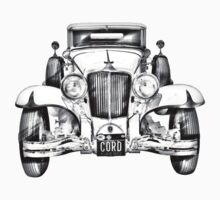 1929 Cord 6-29 Cabriolet Antique Car Illustration Kids Clothes