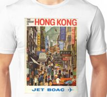 Vintage Airline Hong Kong China Travel Unisex T-Shirt