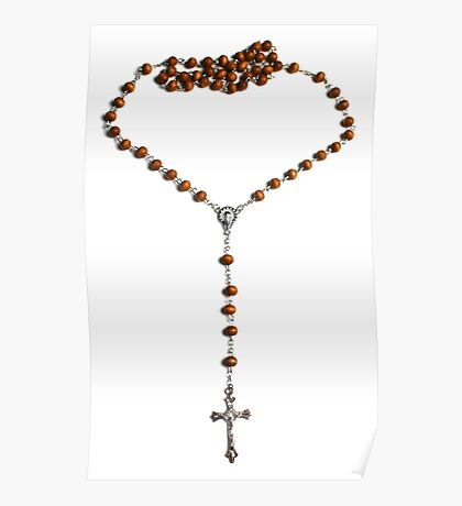 WOODEN ROSARY BEADS 2 Poster