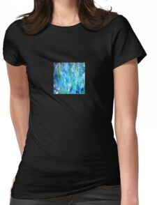 'Seattle Seahawks' Inspired 'Rain Painting' Raw Womens Fitted T-Shirt