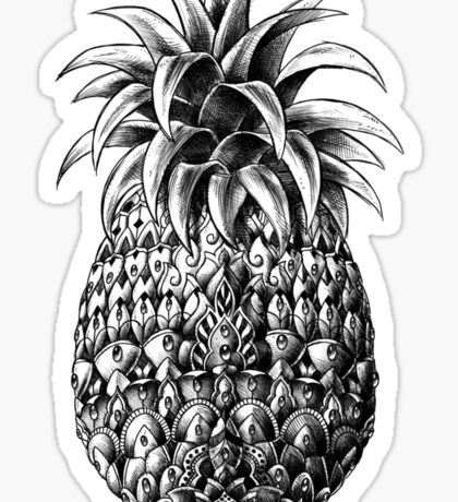 Ornate Pineapple Sticker