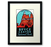 Bryce Canyon National Park Utah Vintage Travel Decal Framed Print