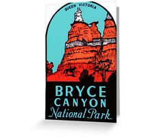 Bryce Canyon National Park Utah Vintage Travel Decal Greeting Card