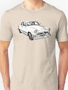 1950  Ford Custom Antique Car Illustration Unisex T-Shirt