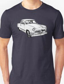 1950  Ford Custom Antique Car Illustration T-Shirt