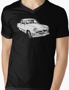 1950  Ford Custom Antique Car Illustration Mens V-Neck T-Shirt