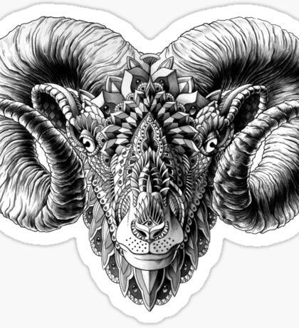 Ram Head Sticker