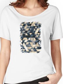 Triangle Pattern Women's Relaxed Fit T-Shirt