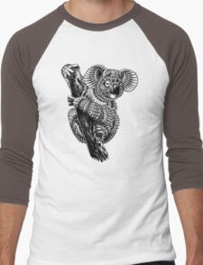 Ornate Koala Men's Baseball ¾ T-Shirt