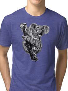 Ornate Koala Tri-blend T-Shirt