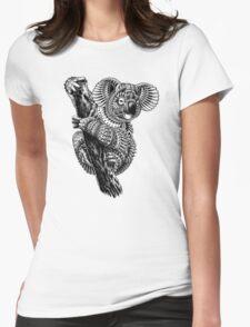 Ornate Koala Womens Fitted T-Shirt