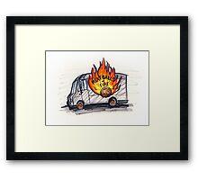 Meatballs of Fire Framed Print