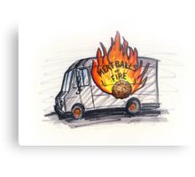 Meatballs of Fire Metal Print