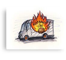 Meatballs of Fire Canvas Print